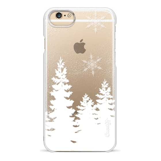 iPhone 6s Cases - Holiday winter christmas snow forest snowflakes cut out white transparent by Girly Trend