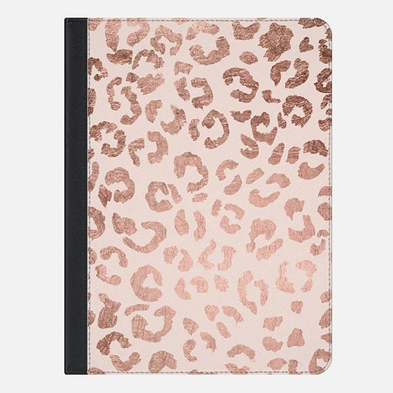 iPad Air 2 Case - Modern hand drawn rose gold leopard print pattern blush pink by Girly Trend