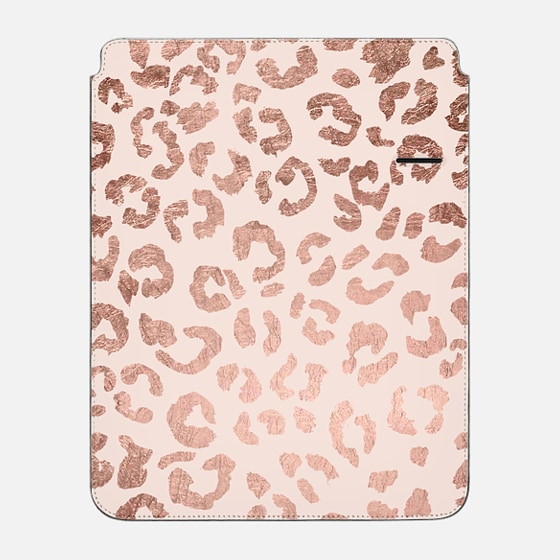 "iPad Pro 12.9"" Hülle - Modern hand drawn rose gold leopard print pattern blush pink by Girly Trend"