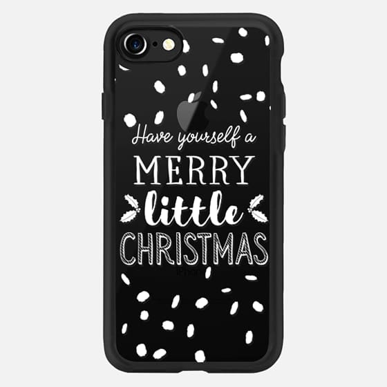 Modern christmas have yourself a merry little christmas snowflake typography mistletoe by Girly Trend -