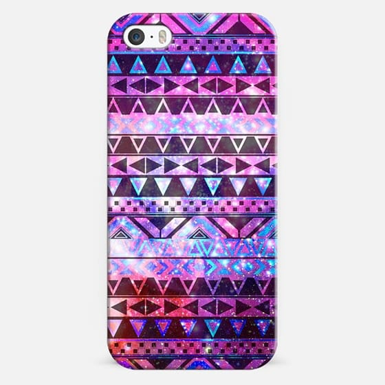 Girly Andes Aztec Pattern Pink Teal Nebula Galaxy - Classic Snap Case