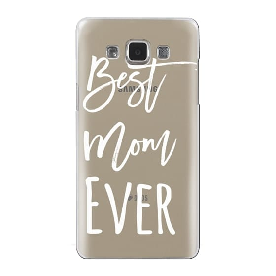 Modern best mom ever typography white by Girly Trend