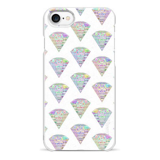 iPhone 7 Cases - Trendy Girly Pastel Pink Diamond Aztec Patterns