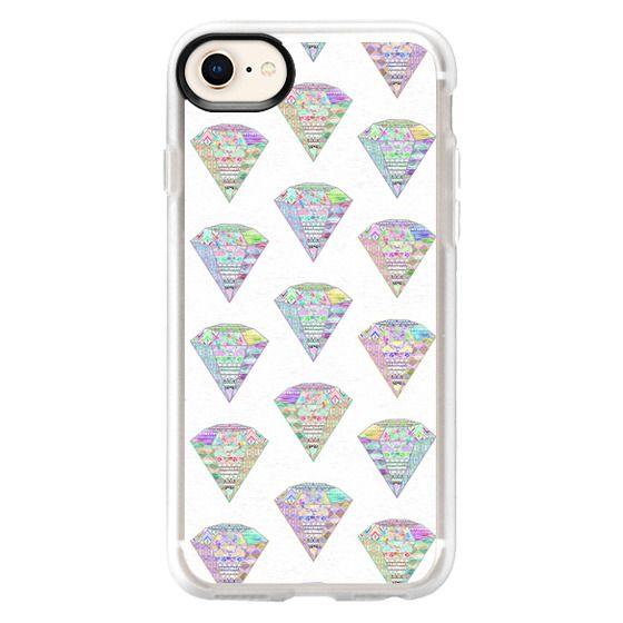 iPhone 8 Cases - Trendy Girly Pastel Pink Diamond Aztec Patterns