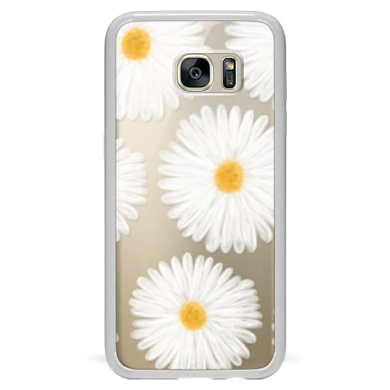 Modern summer daisy flowers hand painted watercolor by Girly Trend