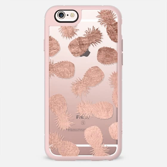 Tropical summer rose gold pineapples pattern by Girly Trend -