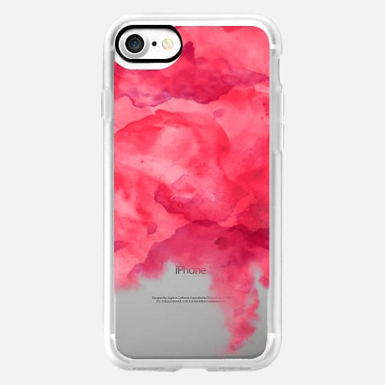 Modern pink watercolor hand painted by Girly Trend -