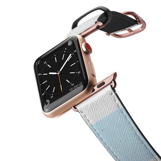 Apple Watch 38mm Bands - Pink purple blue watercolor stripes pattern Apple watch