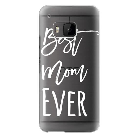 Htc One M9 Cases - Modern best mom ever typography white by Girly Trend
