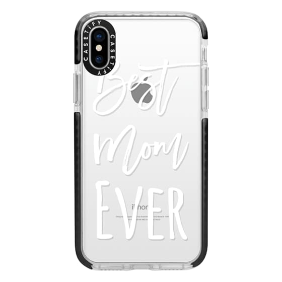 iPhone X Cases - Modern best mom ever typography white by Girly Trend