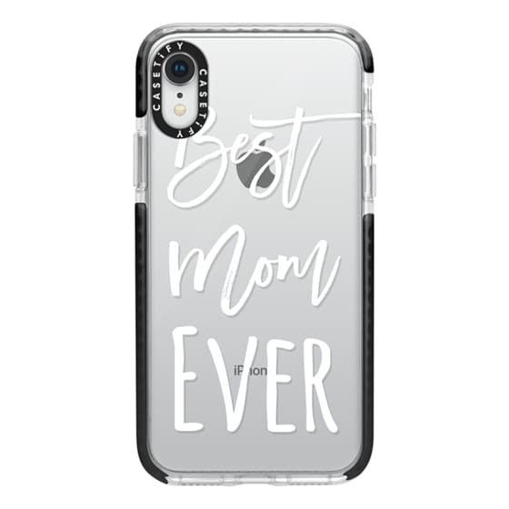 iPhone XR Cases - Modern best mom ever typography white by Girly Trend