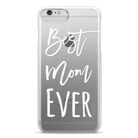 iPhone 6 Plus Cases - Modern best mom ever typography white by Girly Trend