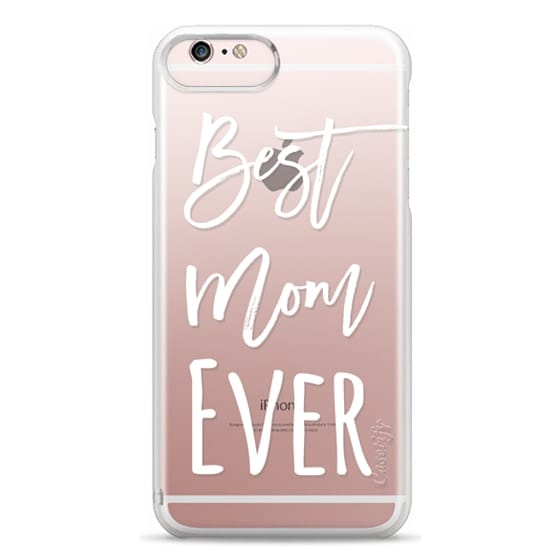 iPhone 6s Plus Cases - Modern best mom ever typography white by Girly Trend
