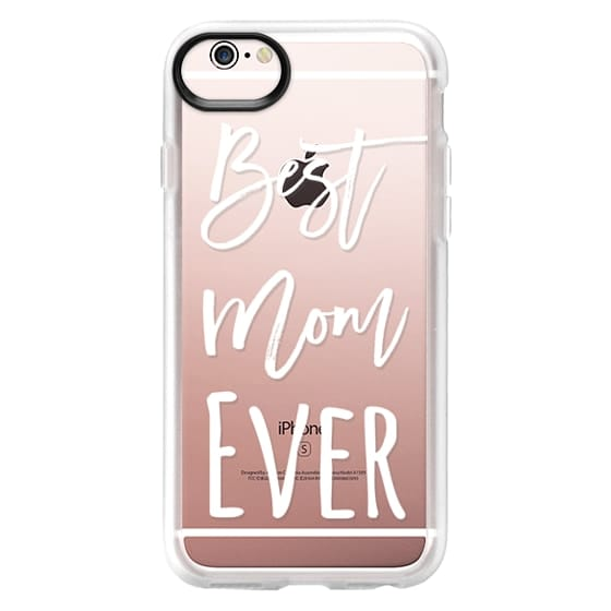 iPhone 6s Cases - Modern best mom ever typography white by Girly Trend