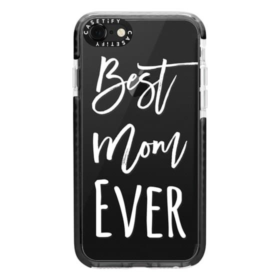 iPhone 7 Cases - Modern best mom ever typography white by Girly Trend