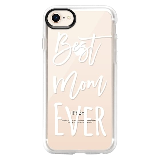 iPhone 8 Cases - Modern best mom ever typography white by Girly Trend