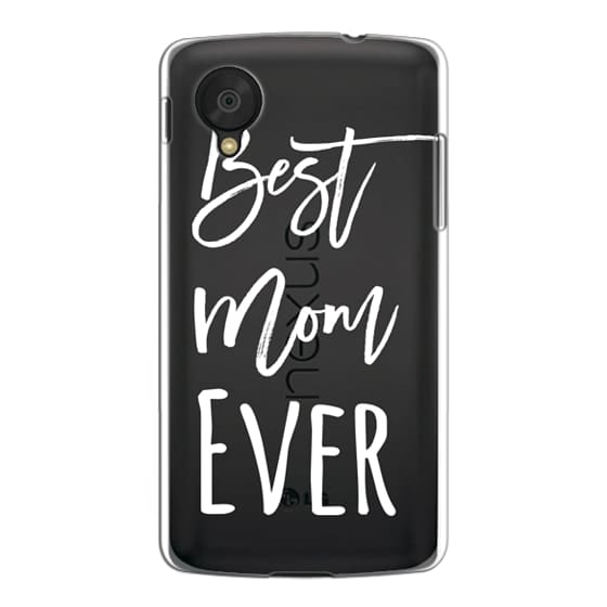 Nexus 5 Cases - Modern best mom ever typography white by Girly Trend