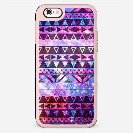 Girly Andes Aztec Pattern Pink Teal Nebula Galaxy -