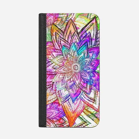 Colorful Vintage Floral Pattern Drawing Watercolor