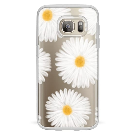 Samsung Galaxy S7 Cases - Modern summer daisy flowers hand painted watercolor by Girly Trend