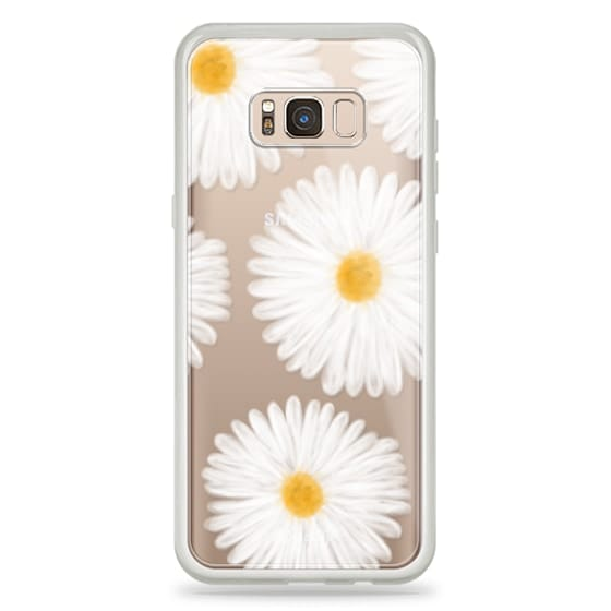 Samsung Galaxy S8 Plus Cases - Modern summer daisy flowers hand painted watercolor by Girly Trend