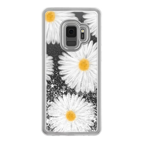 Samsung Galaxy S9 Cases - Modern summer daisy flowers hand painted watercolor by Girly Trend