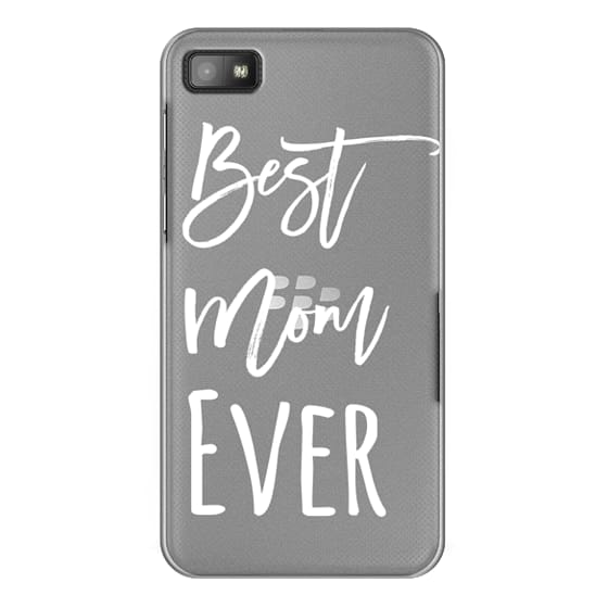 Blackberry Z10 Cases - Modern best mom ever typography white by Girly Trend