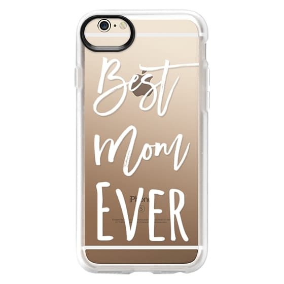 iPhone 6 Cases - Modern best mom ever typography white by Girly Trend