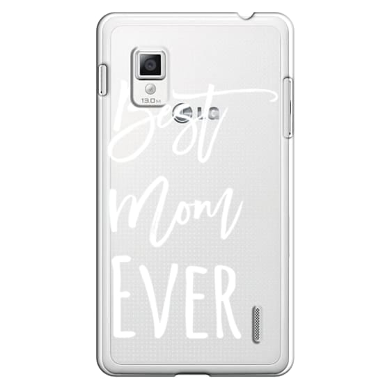 Optimus G Cases - Modern best mom ever typography white by Girly Trend