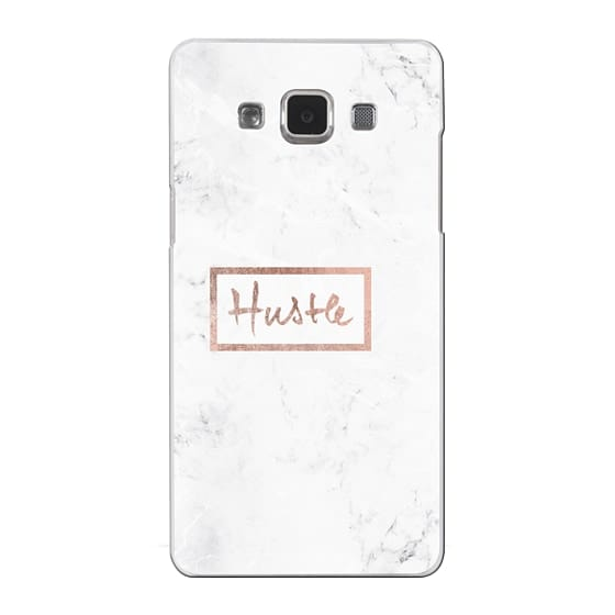Samsung Galaxy A5 Cases - Modern rose gold Hustle typography white marble