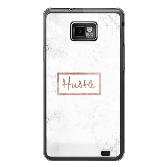 Samsung Galaxy S2 Cases - Modern rose gold Hustle typography white marble