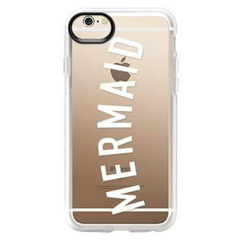 Grip iPhone 6 Case - Simple mermaid typography white quote by Girly Trend