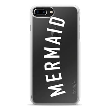 Snap iPhone 7 Plus Case - Simple mermaid typography white quote by Girly Trend
