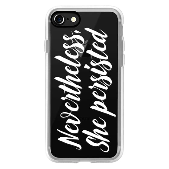 Modern quote typography meme trendy nevertheless she persisted by Girly Trend