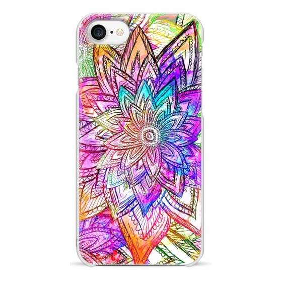 iPhone 7 Cases - Colorful Vintage Floral Pattern Drawing Watercolor
