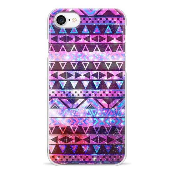 iPhone 7 Cases - Girly Andes Aztec Pattern Pink Teal Nebula Galaxy