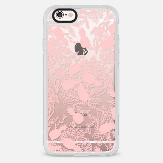 Modern pink pastel exotic pineapple hand drawn floral mandala by Girly Trend - New Standard Case