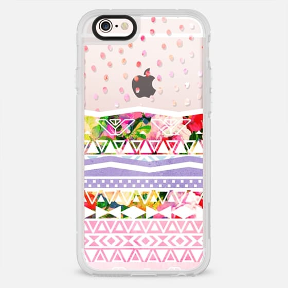 Modern boho floral watercolor aztec hand drawn polka dots pattern by Girly Trend - New Standard Case