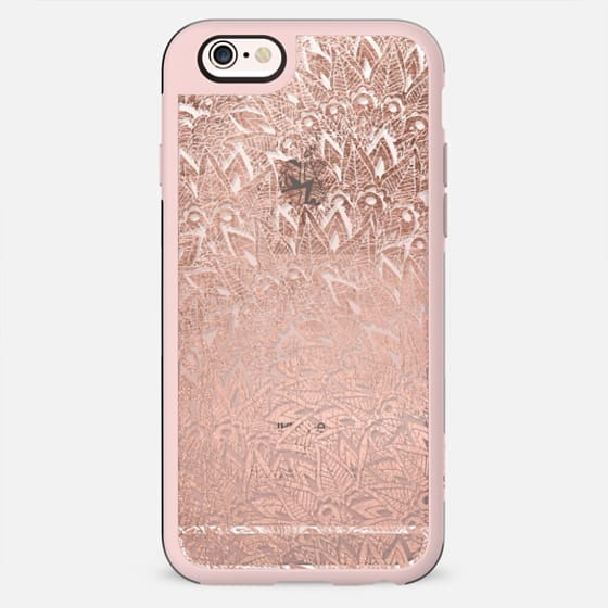 Girly chic rose gold elegant floral mandala hand drawn by Girly Trend - New Standard Case