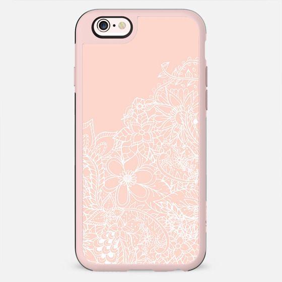Modern spring summer blush pink pastel floral hand drawn illustration pattern by Girly Trend - New Standard Case