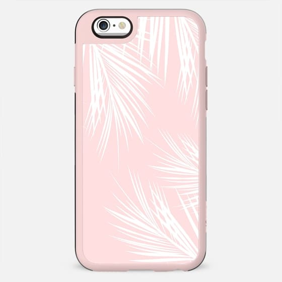 Modern white tropical palm tree on girly stylish pink by Girly Trend - New Standard Case