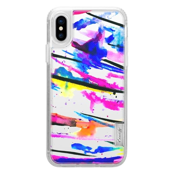 iPhone 6s Cases - Modern bright abstract pink black multicolor watercolor brushstrokes transparent by Girly Trend