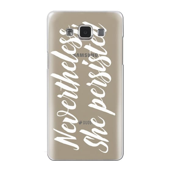 Samsung Galaxy A5 Cases - Modern quote typography meme trendy nevertheless she persisted by Girly Trend