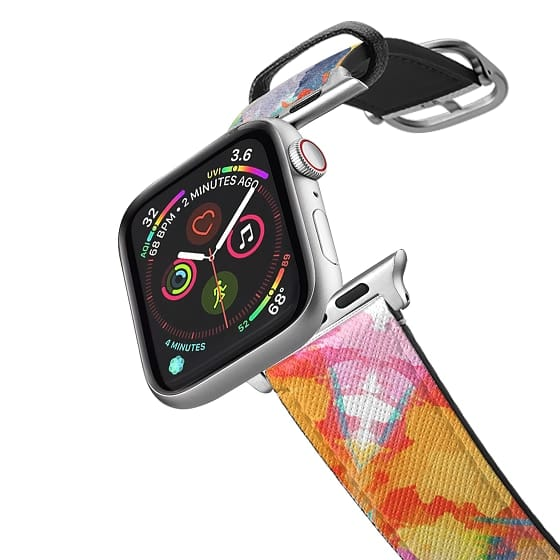 Apple Watch 38mm Bands - Abstract orange floral watercolor Apple watch