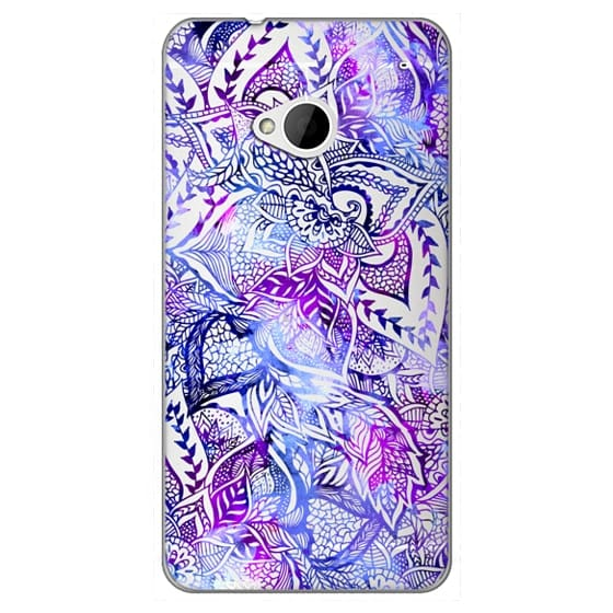 Htc One Cases - Purple blue watercolor floral lace mandala hand drawn illustration by Girly Trend