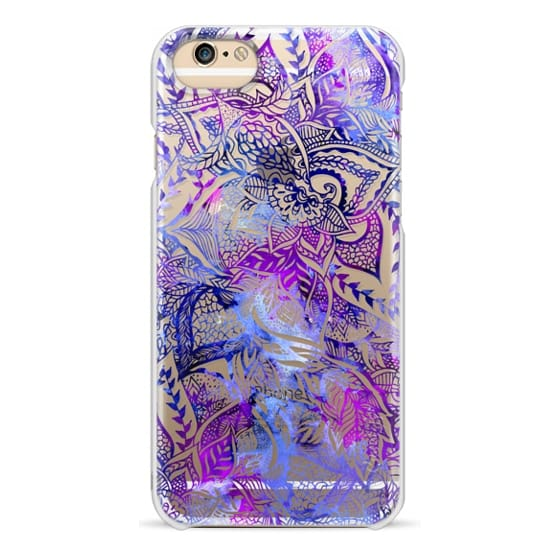 iPhone 6 Cases - Purple blue watercolor floral lace mandala hand drawn illustration by Girly Trend