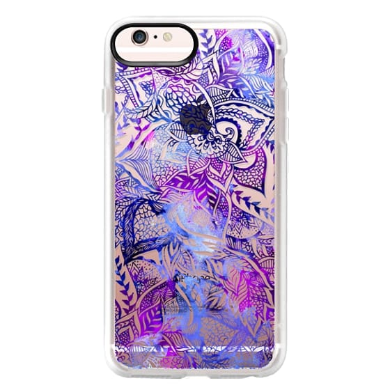 iPhone 6s Plus Cases - Purple blue watercolor floral lace mandala hand drawn illustration by Girly Trend