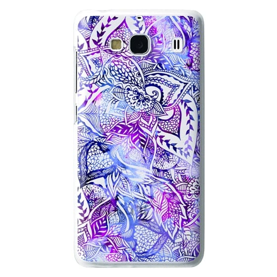 Redmi 2 Cases - Purple blue watercolor floral lace mandala hand drawn illustration by Girly Trend