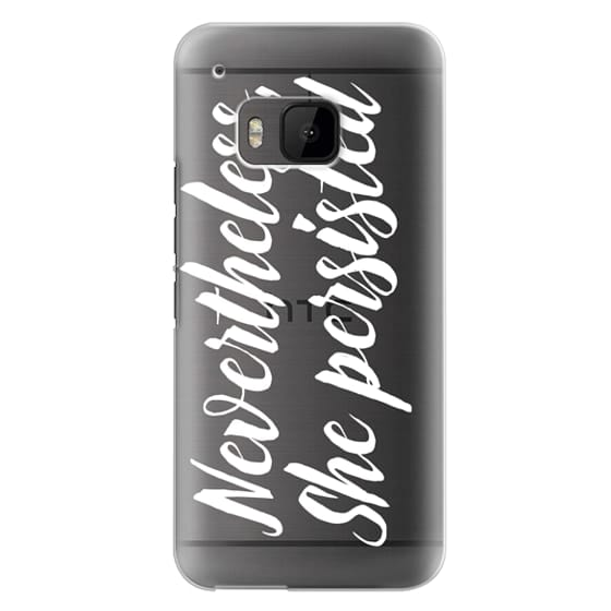 Htc One M9 Cases - Modern quote typography meme trendy nevertheless she persisted by Girly Trend