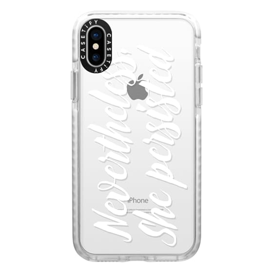 iPhone X Cases - Modern quote typography meme trendy nevertheless she persisted by Girly Trend